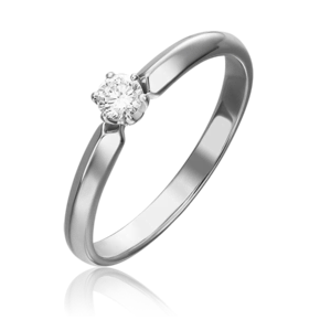 Кольцо из белого золота с бриллиантом 01-0983-00-101-1120-30