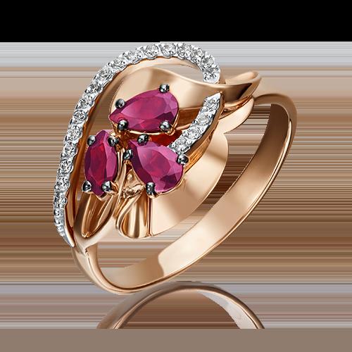 Кольцо из красного золота 01-5221-00-107-1110-30