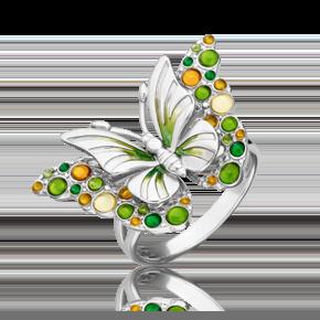 Кольцо из серебра с эмалью 01-5485-00-000-0200-68