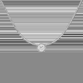 Колье из белого золота с бриллиантом 07-0006-00-101-1120-30