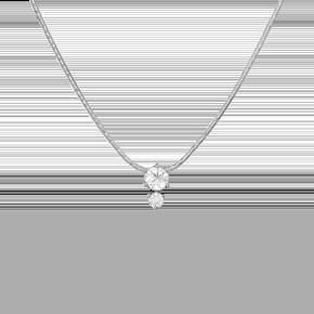 Колье из белого золота с бриллиантом 07-0008-00-101-1120-30