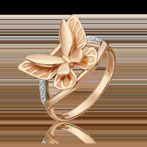 Кольцо из комбинированного золота с бриллиантом 01-5496-00-101-1111