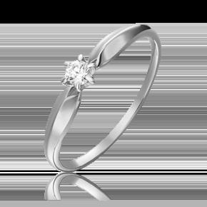 Кольцо из белого золота с бриллиантом 01-0842-00-101-1120-30