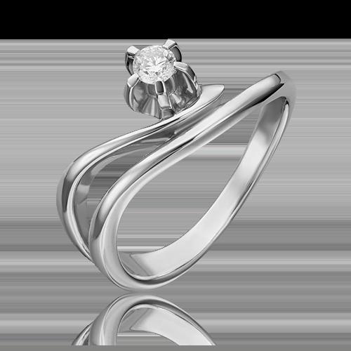 Кольцо из белого золота с бриллиантом 01-0018-00-101-1120-30