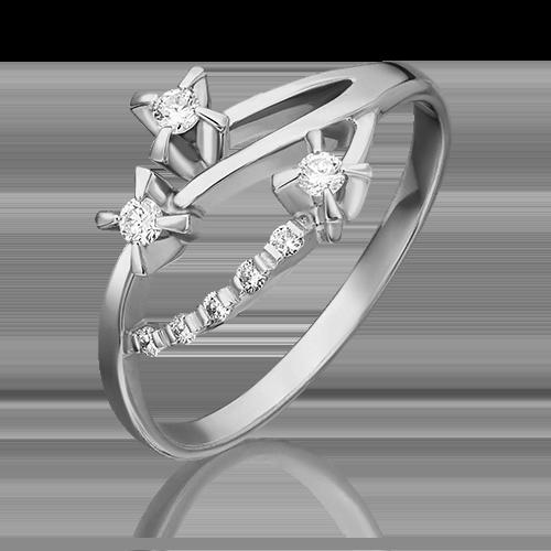 Кольцо из белого золота с бриллиантом 01-0040-00-101-1120-30