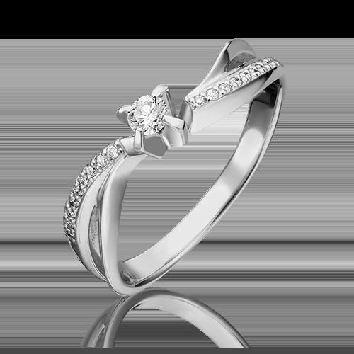 Кольцо из белого золота с бриллиантом 01-0042-00-101-1120-30