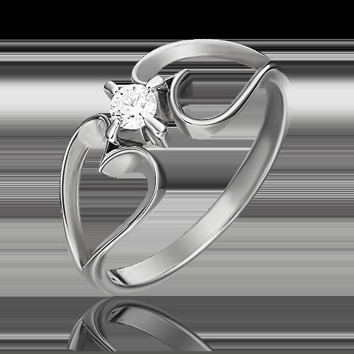 Кольцо из белого золота с бриллиантом 01-0056-00-101-1120-30