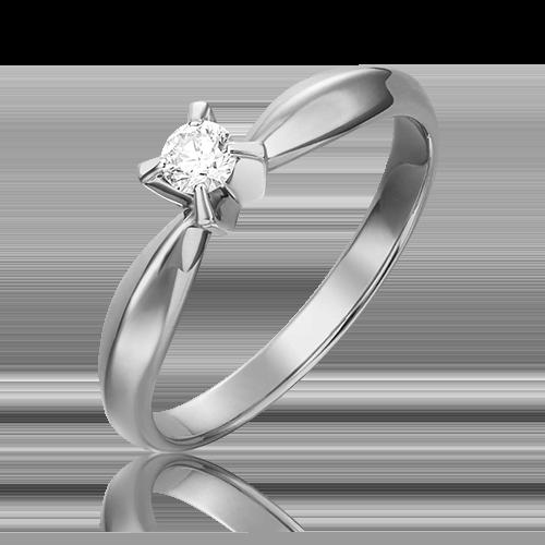 Кольцо из белого золота с бриллиантом 01-0084-00-101-1120-30
