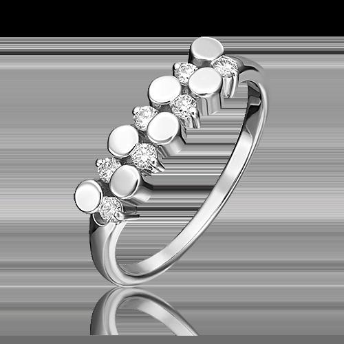 Кольцо из белого золота с бриллиантом 01-0256-00-101-1120-30