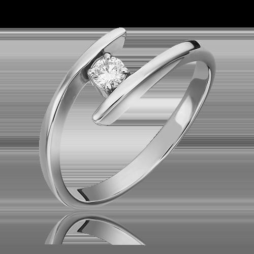Кольцо из белого золота с бриллиантом 01-0266-00-101-1120-30