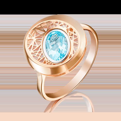 Кольцо из красного золота топазом 01-5091-00-201-1110-57