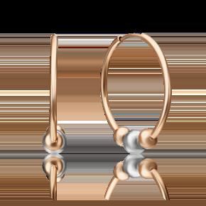 Серьги-конго из комбинированного золота 02-4386-00-000-1111-04
