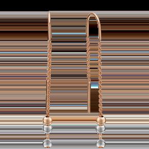Серьги-продевки из комбинированного золота 02-4310-00-000-1111-01
