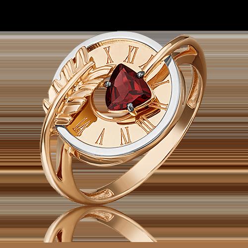 Кольцо из комбинированного золота с гранатом 01-5467-00-204-1111-76