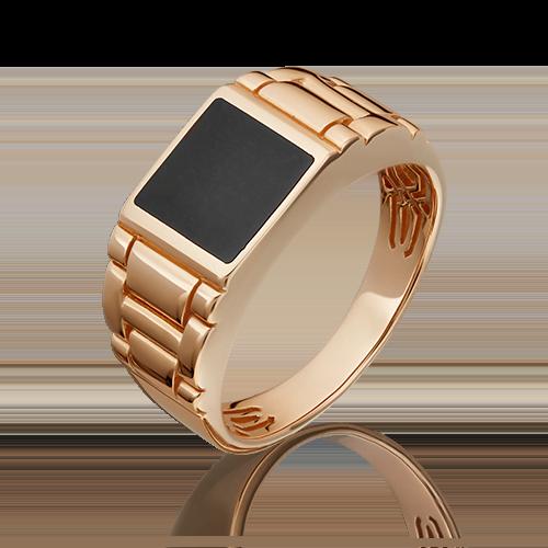 Печатка из красного золота эмалью 01-4439-00-000-1110-25