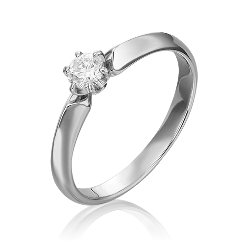 Кольцо из белого золота с бриллиантом 01-0991-00-101-1120-30