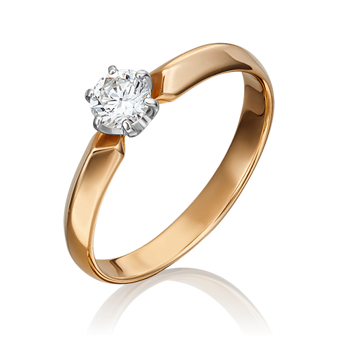 Кольцо из комбинированного золота с бриллиантом 01-0998-00-101-1111-30
