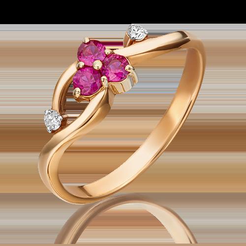 Кольцо из красного золота 01-0674-00-107-1110-30