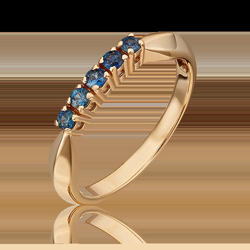 Кольцо из красного золота с сапфиром 01-0281-00-102-1110-30