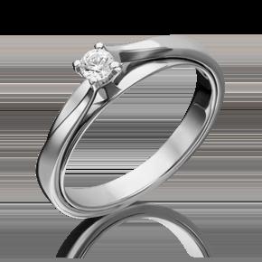Помолвочное кольцо из белого золота с бриллиантом 01-5235-00-101-1120-30