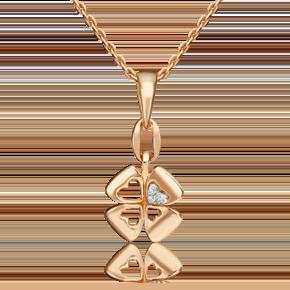 Подвеска из комбинированного золота с бриллиантом 03-3284-00-101-1111