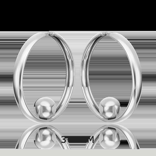 Серьги-конго из серебра 02-4802-00-000-0200-68
