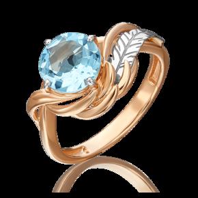 Кольцо из комбинированного золота с топазом 01-5459-00-201-1111-76