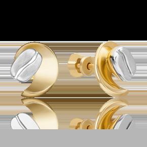 Серьги-пусеты из лимонного золота 02-4917-00-000-1121