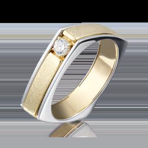 Кольцо из лимонного золота с бриллиантом 01-5133-00-101-1121-30