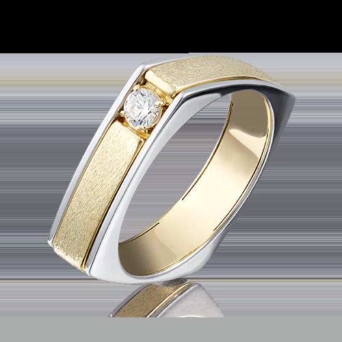 Кольцо из комбинированного золота бриллиантом 01-5133-00-101-1121-30