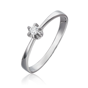 Кольцо из белого золота с бриллиантом 01-5537-00-101-1120-30