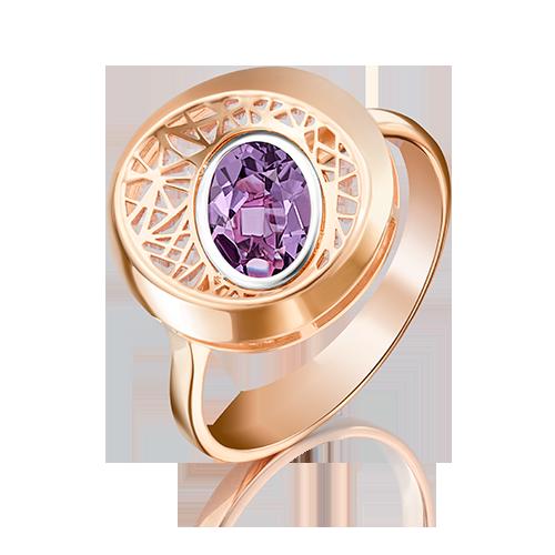 Кольцо из красного золота с аметистом 01-5091-00-203-1110-57