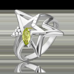 Кольцо из серебра с хризолитом 01-5469-00-205-0200-69
