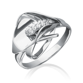 Кольцо из белого золота с фианитом 01-5227-00-401-1120-23