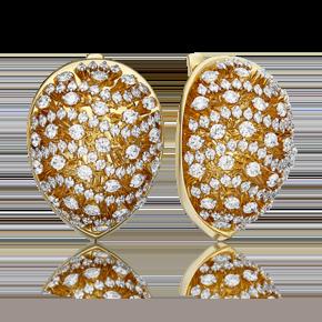 Серьги из лимонного золота с бриллиантом 02-4903-00-101-1130-30