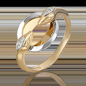 Кольцо из лимонного золота с бриллиантом 01-5500-00-101-1121