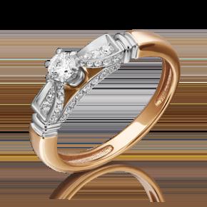 Кольцо из комбинированного золота с бриллиантом 01-5230-00-101-1111-30