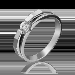 Помолвочное кольцо из белого золота с бриллиантом 01-5121-00-101-1120-30
