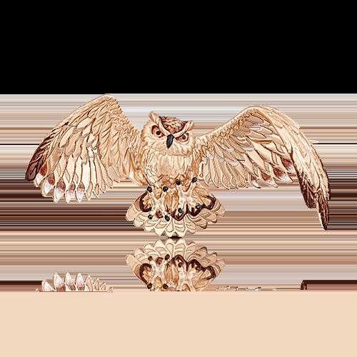Брошь из красного золота с эмалью 04-0181-00-000-1110-59
