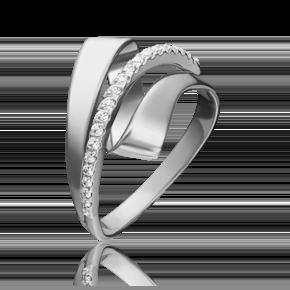 Кольцо из белого золота с фианитом 01-5394-00-401-1120-24