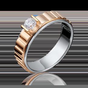 Кольцо из комбинированного золота с бриллиантом 01-5114-00-101-1111-30