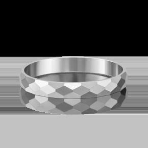 Обручальное кольцо из белого золота 01-5377-00-000-1120-18