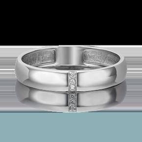 Обручальное кольцо из платины с бриллиантом 01-1615-00-101-2100-30