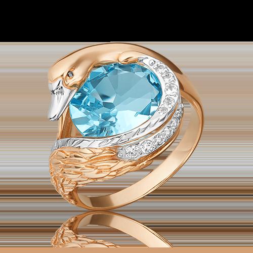 Кольцо из красного золота с топазом 01-5464-00-201-1110-46