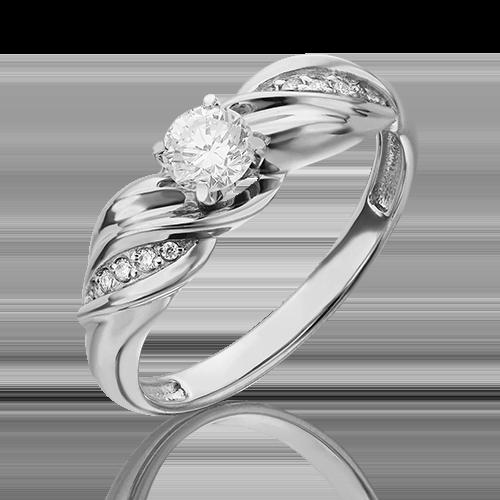 Кольцо из белого золота с бриллиантом 01-4956-00-101-1120-30