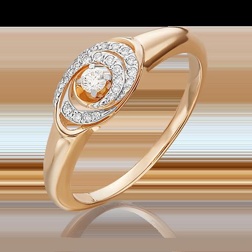 Кольцо из красного золота с бриллиантом 01-4957-00-101-1110-30