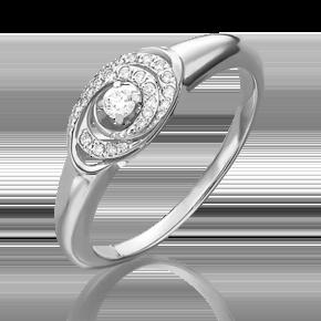 Кольцо из белого золота с бриллиантом 01-4957-00-101-1120-30