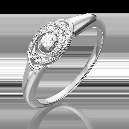 Кольцо из белого золота бриллиантом 01-4957-00-101-1120-30
