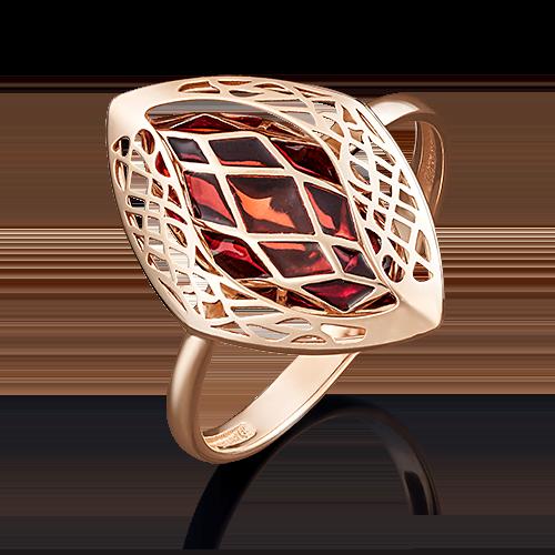 Кольцо из красного золота с эмалью 01-4958-01-000-1110-48